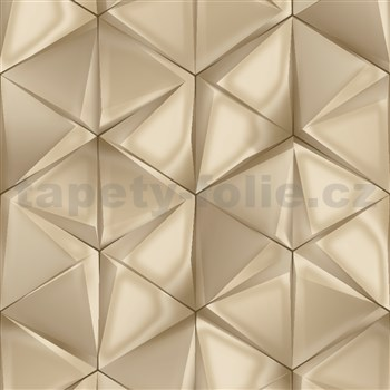 Vliesové tapety na stenu IMPOL Onyx 3D hexagony sivo-strieborné