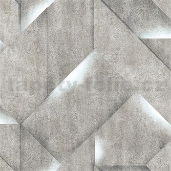 Vliesové tapety na stenu IMPOL Onyx 3D betón sivý