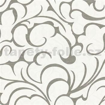 Vliesové tapety na stenu Opulence abstraktný vzor sivo-biely-ZĹAVA