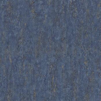 Tapety Origin - jednofarebná kovový vzhľad modro-zlatá