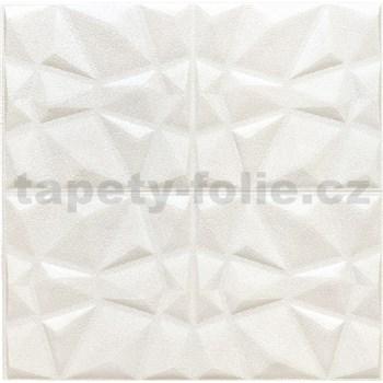 Samolepiace penové 3D panely rozmer 70 x 70 cm, diamant biely