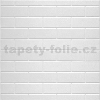 Samolepiace penové 3D panely rozmer 70 x 77 cm, klasické tehly biele