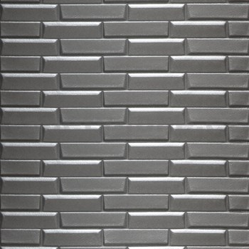 Samolepiace penové 3D panely rozmer 77 x 69 cm, 3D moderné tehly tmavo sivé