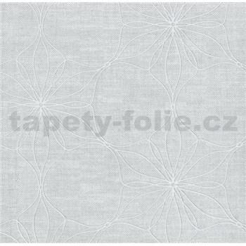 Vliesová tapeta na stenu Polar kvety sivé