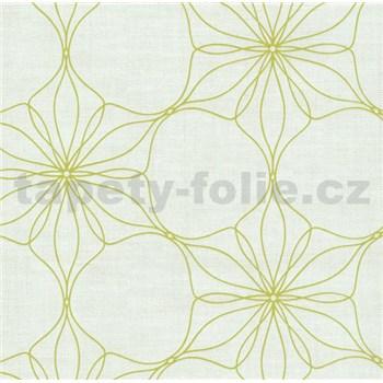 Vliesová tapeta na stenu Polar kvety zelené