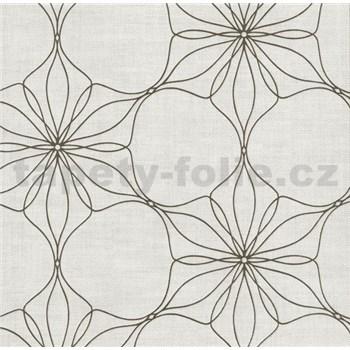 Vliesová tapeta na stenu Polar kvety hnedé