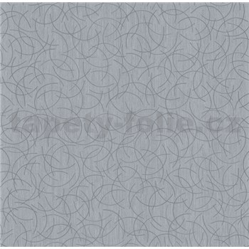 Vliesová tapeta na stenu Polar curls tmavo sivý so strieborným vzorom
