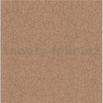 Vliesová tapeta na stenu Polar curls hnedý so zlatým vzorom