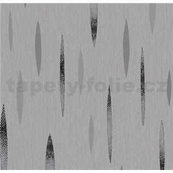 Vliesová tapeta na stenu Polar abstrakt tmavo sivý, čierny, strieborný