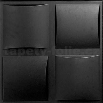3D panel XPS PLAID čierny rozmer 50 x 50 cm