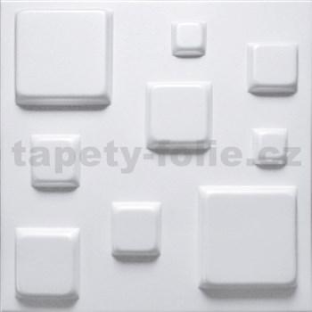 3D panel XPS BLOCKS biely rozmer 500 x 500 mm