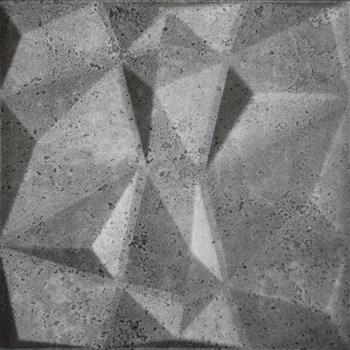 3D panel XPS DIAMANT BETÓN tmavo sivý 50 x 50 cm