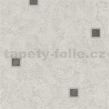 Vliesové tapety na stenu Pure and Easy kocka sivá