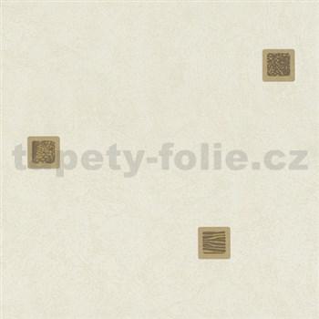 Vliesové tapety na stenu Pure and Easy kocka okrovo-hnedá