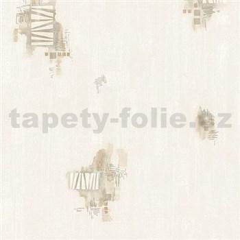 Vliesové tapety na stenu Pure and Easy abstrakt akvarelový hnedý