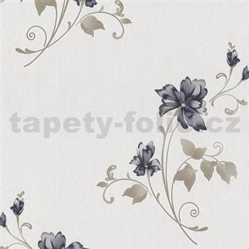 Vliesové tapety na stenu Pure and Easy kvety modré