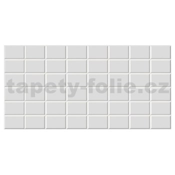 Obkladové 3D PVC panely rozmer 960 x 480 mm obklad biely 7,5 x 11,5 cm