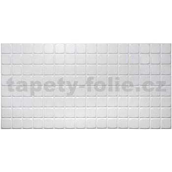 Obkladové 3D PVC panely rozmer 960 x 480 mm mozaika biela malá