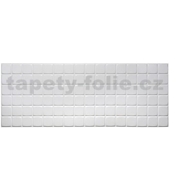 Obkladové 3D PVC panely rozmer 960 x 480 mm mozaika biela veľká