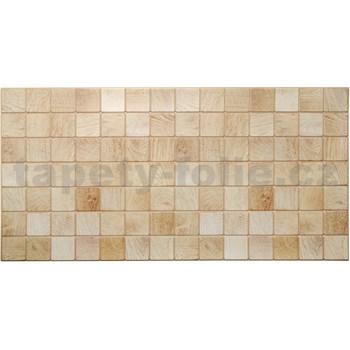 Obkladové 3D PVC panely rozmer 955 x 480 mm obkladové drevo bielené
