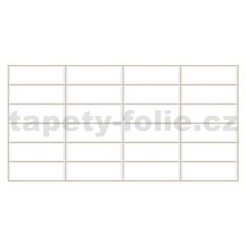 Obkladové 3D PVC panely rozmer 955 x 480 mm obklad biely, béžová škára