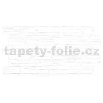 Obkladové 3D PVC panely rozmer 980 x 500 mm kameň biely