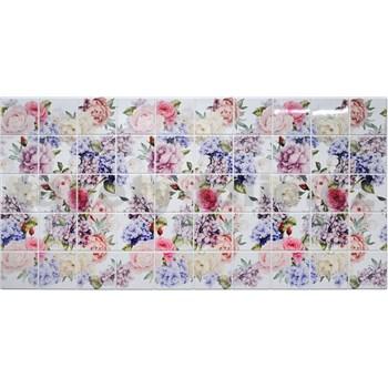 Obkladové 3D PVC panely rozmer 964 x 484 mm kvety hortenzie - POSLEDNÉ KUSY