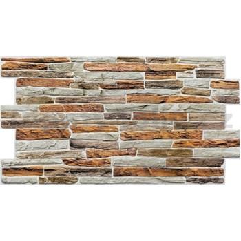 Obkladové 3D PVC panely rozmer 980 x 480 mm kameň hnedo-sivý
