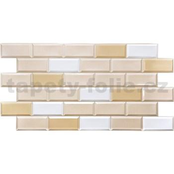 Obkladové 3D PVC panely rozmer 955 x 480 mm obklad hnedo-biely