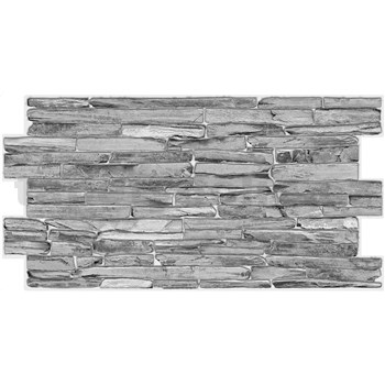 Obkladové 3D PVC panely rozmer 980 x 500 x 0,3 mm kameň sivý