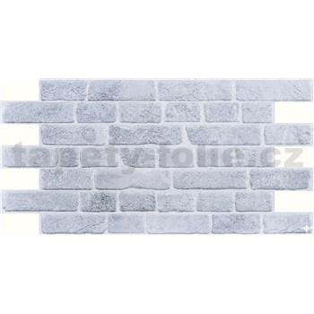 Obkladové 3D PVC panely rozmer 951 x 495 mm, hrúbka 0,4mm, tehla retro sivá