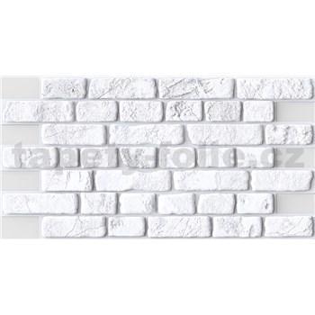 Obkladové 3D PVC panely rozmer 951 x 495 mm, hrúbka 0,4mm, tehla biela