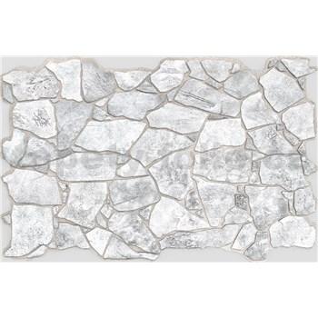 Obkladové 3D PVC panely rozmer 984 x 633 mm, hrúbka 0,6mm, ukladaný kameň sivý