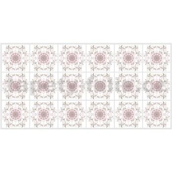 Obkladové 3D PVC panely rozmer 960 x 480 mm mozaika s ružovými ornamentami