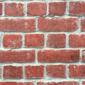 Papierové tapety na stenu tehla červená