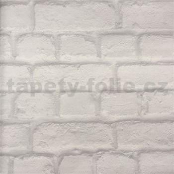 Papierové tapety na stenu tehlová stena sivá