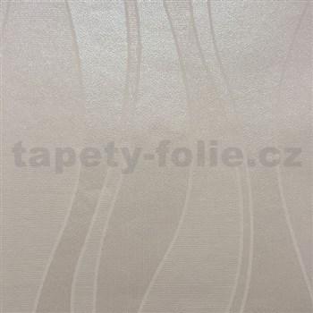 Papierové tapety na stenu vlnovky svetlo hnedé
