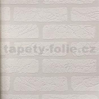 Vinylová tapeta na stenu tehla biela 3D