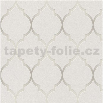 Vliesové tapety na stenu Collection 2 zámocký vzor strieborný na sivom podklade