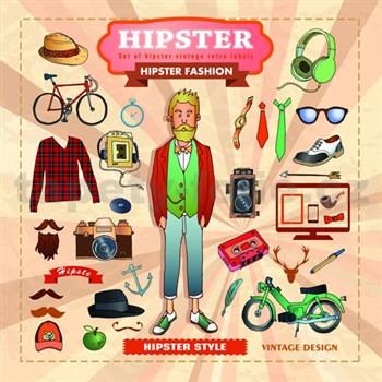 Retro tabula Hipster 30 x 30 cm