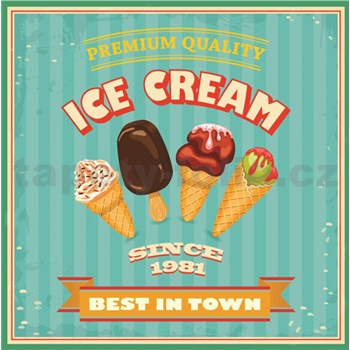 Retro tabula Ice Cream 30 x 30 cm