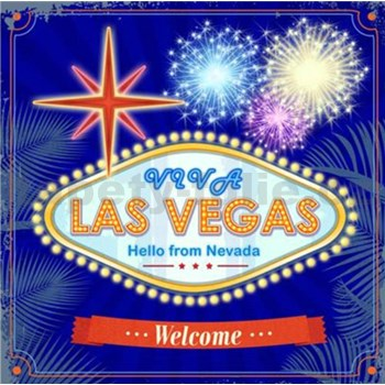 Retro tabula Las Vegas 30 x 30 cm