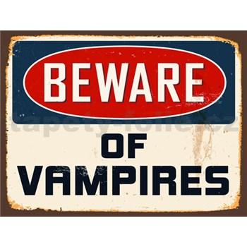 Retro tabula Beware of Vampires 40 x 30 cm