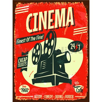 Retro tabula Cinema 40 x 30 cm
