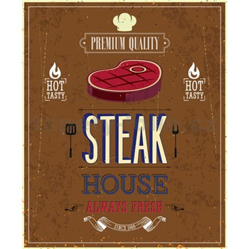 Retro tabula Steak House 40 x 30 cm