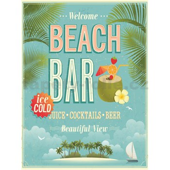 Retro tabula Beach Bar 40 x 30 cm
