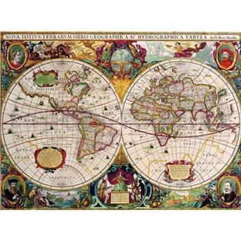 Retro tabula world map 40 x 30 cm