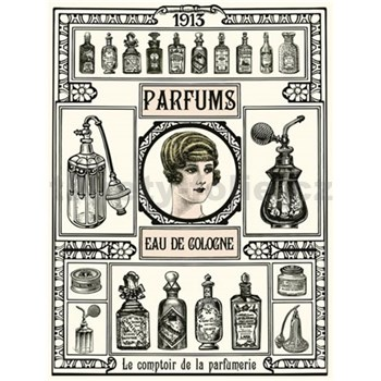 Retro tabula Parfums 40 x 30 cm