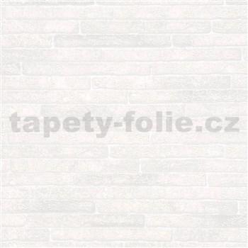 Vliesové tapety na stenu Sand and Stones tehla klinker krémová s výraznou štruktúrou