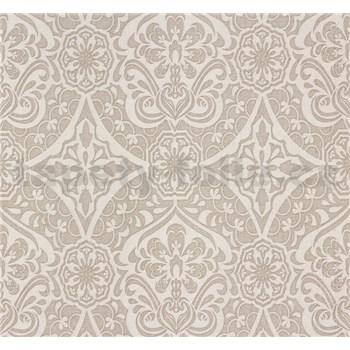 Vliesové tapety na stenu Sinfonia ornament svetlo hnedý